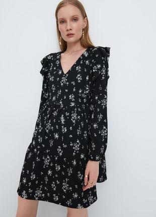 Платье мини, чёрное платье