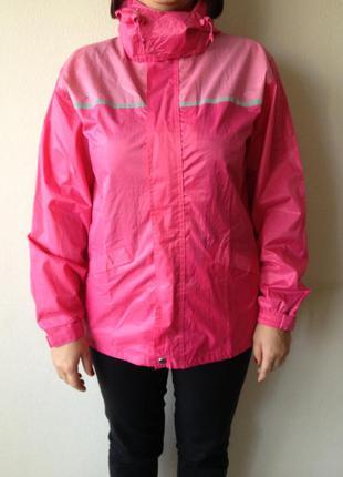Дождевик куртка яркая розовая