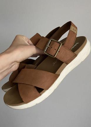 Сандалии кожаные, ортопедические босоножки бренд timberland hoverlite оригинал