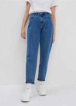 Джинсы джинсовые штаны женские мом момы синие