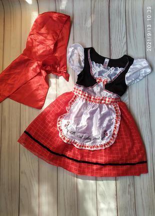 Платье красная шапочка 5-6 лет