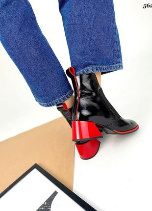 ❤ женские черные кожаные осенние демисезонные ботинки ❤2 фото