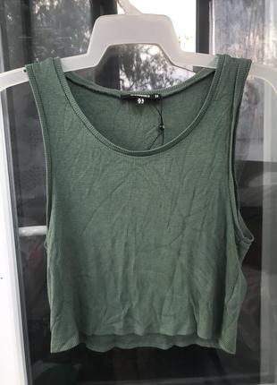 Топ женский хаки зелёный в рубчик s m l 46 размер1 фото