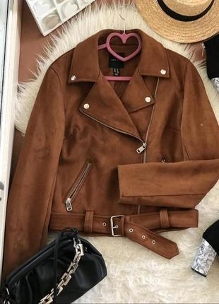 Замшевая куртка кожанка косуха1 фото