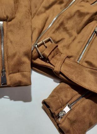 Замшевая куртка кожанка косуха2 фото