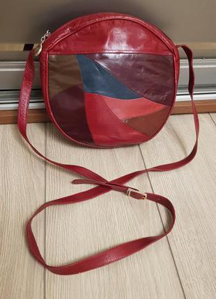 Эксклюзивная винтажная сумка artigiani veneziani, кожаная сумка кроссбоди винтаж