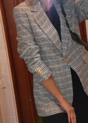 Роскошный твидовый жакет пиджак  от h&m