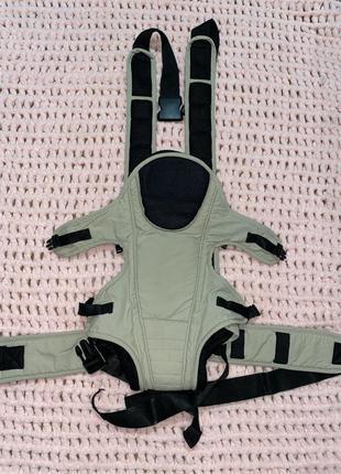 Детский бежевый эрго рюкзак кенгуру переноска хипсит
