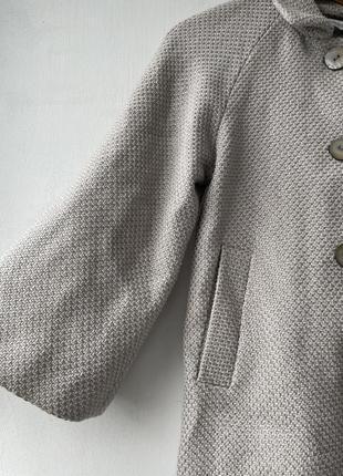 Полупальто накидка пончо шерсть в составе6 фото
