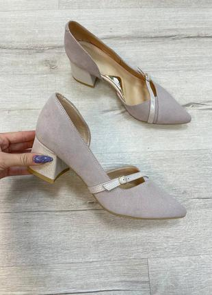 Новые кожаные туфли лодочки 41р