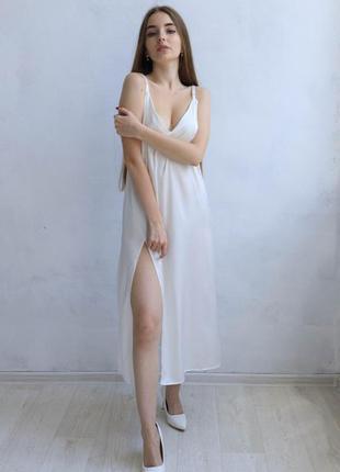 Платье-комбинация молочный
