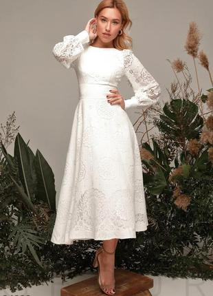 Романтичное кружевное платье gepur