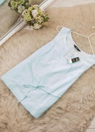 Качественный хлопковый легкий топ блуза от f&f рр 12 наш 46