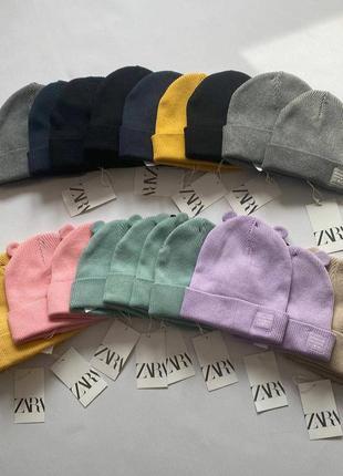 Шапки зара демисезонная детская шапка zara на мальчика на 1-3 г, 3-5 лет