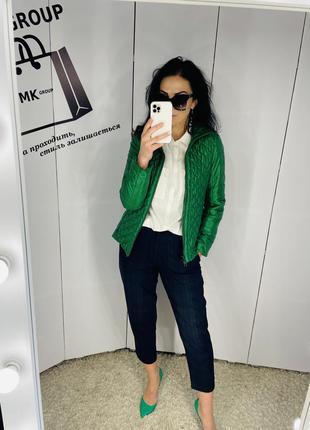 Куртка бренд alba moda розмір 36 яскраво зелена ціна 399 грн