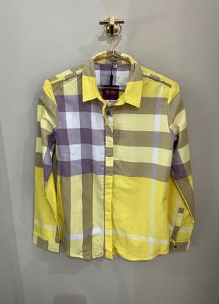 Желтая рубашка в клетку