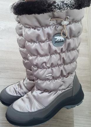 Зимние сапоги skandia на девочку 34 размер