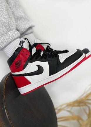 Nike air jordan retro 1black/red