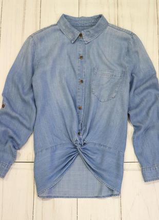 Джинсовая рубашка, лиоцел, m-l
