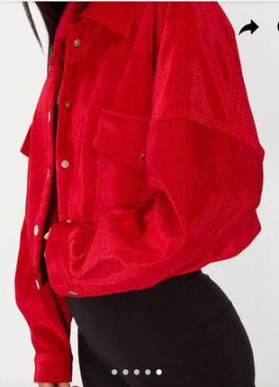Трендова куртка бомпер оверсайз з підкладкою від prettylittlething💣💣💣