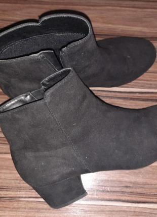 Ботинки сапожки натуральный замш и кожа