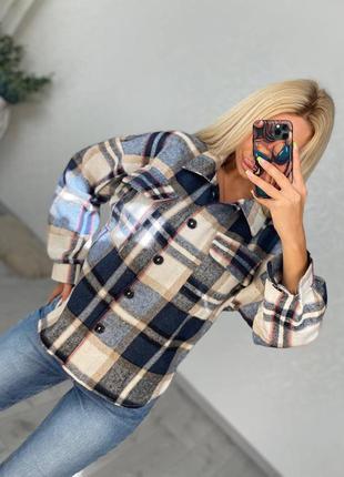Женская рубашка, рубашка в клетку