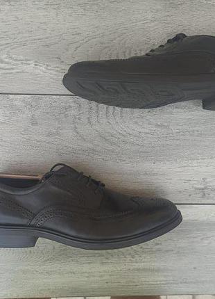 Geox raspira мужские кожаные туфли броги оригинал 46 размер германия