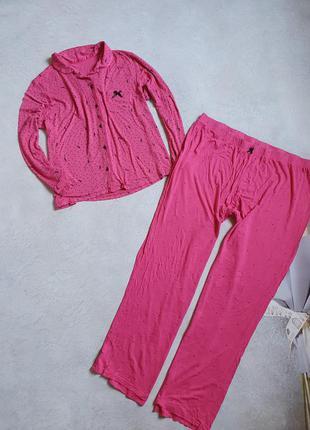 Женская пижама в горошек р. 4xl-5xl1 фото