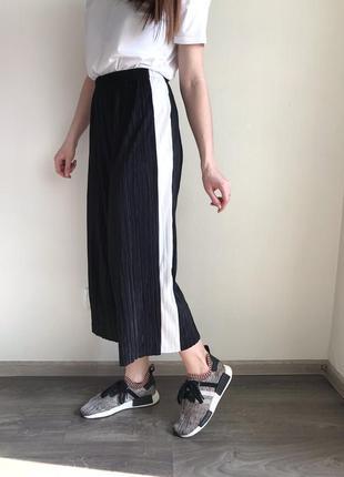 Плиссированные брюки-кюлоты zara zara