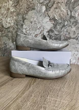 Ara luftpolster 41 р кожа туфли мокасины туфлі лоферы .