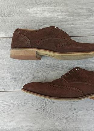 Hx london мужские замшевые туфли броги оригинал англия 44 размер
