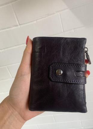 Коричневый кожаный кошелёк унисекс