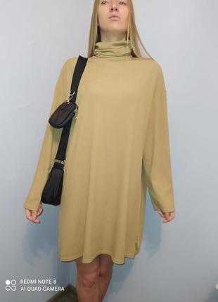 Платье туника boohoo в рубчик