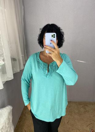 Красивый лонгслив футболка с длинным рукавом кофточка