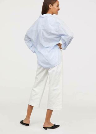 Белые брюки кюлоты zara3 фото