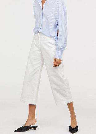 Белые брюки кюлоты zara1 фото