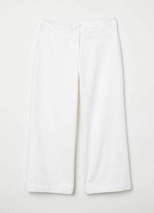 Белые брюки кюлоты zara7 фото