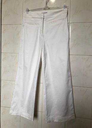 Белые брюки кюлоты zara4 фото