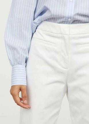 Белые брюки кюлоты zara5 фото