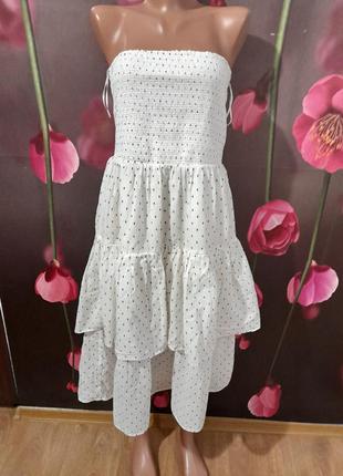 Платье ярусное натуральное1 фото