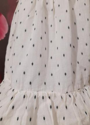 Платье ярусное натуральное4 фото