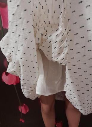 Платье ярусное натуральное3 фото