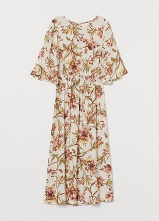 Платье миди из вискозы сукня міді з натуральної тканини