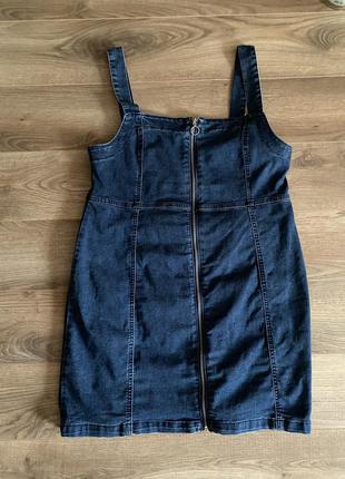 Сарафан джинсовый платье