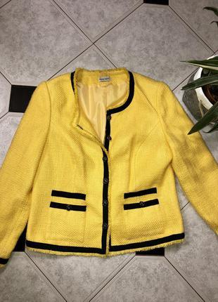 Модный жакет в стиле chanel/ желтый твидовый блейзер 🍃