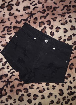 Крутые джинсовые шорты h&m