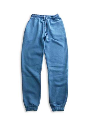 🔥синие джоггеры на флисе, спортивные штаны, спортивки, теплые
