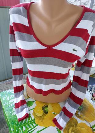 Укороченный полосатый свитерок