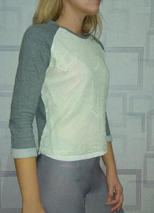 Свитшот свитер кружево зима