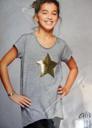 Красивая футболка на девочку подростка р. 116